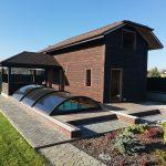 Жилая баня с бассейном строим