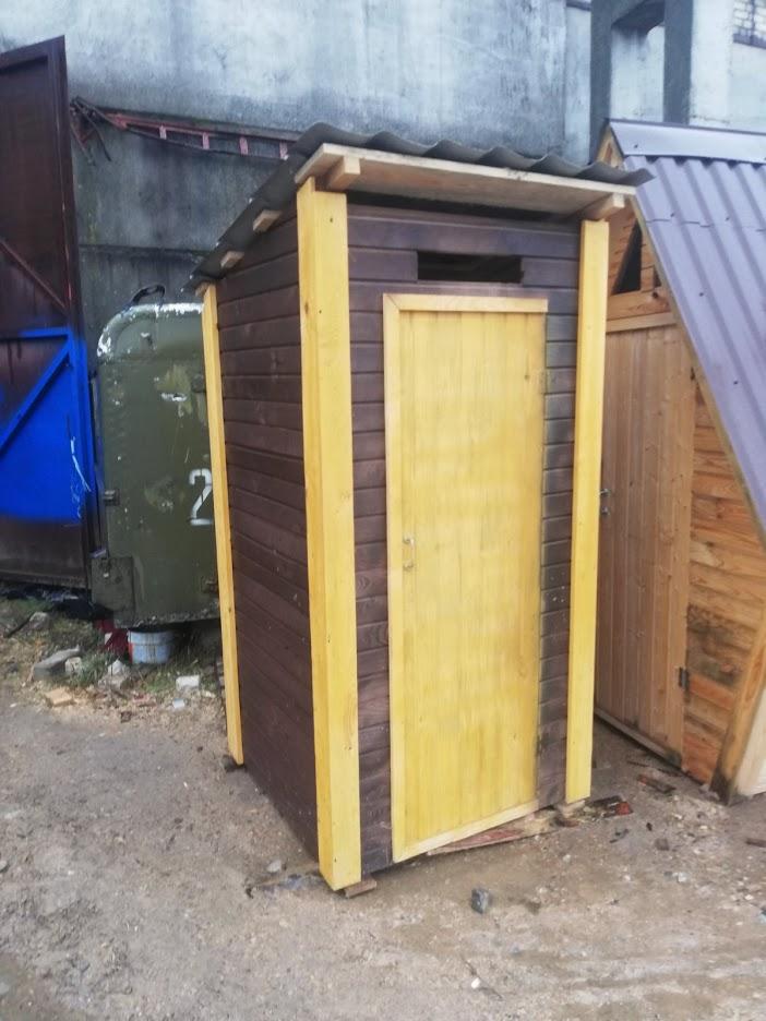 туалет из бруса